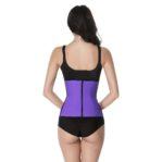 Paarse waist trainer